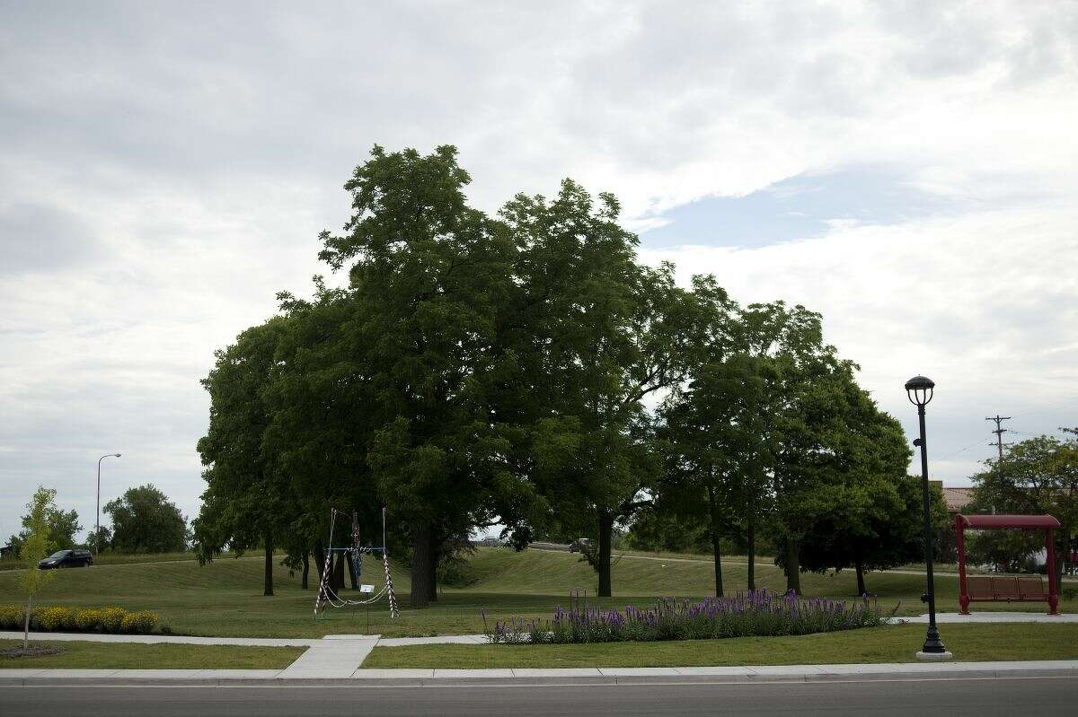 This photo shows Putnam Park, located between East Ellsworth Street and South Poseyville Road in downtown Midland.