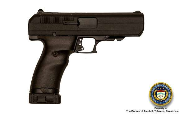 Junne Koh was caught with a 9 mm High-Point pistol similar to this weapon, pictured in a Bureau of Alcohol, Tobacco, Firearms and Explosives photo.