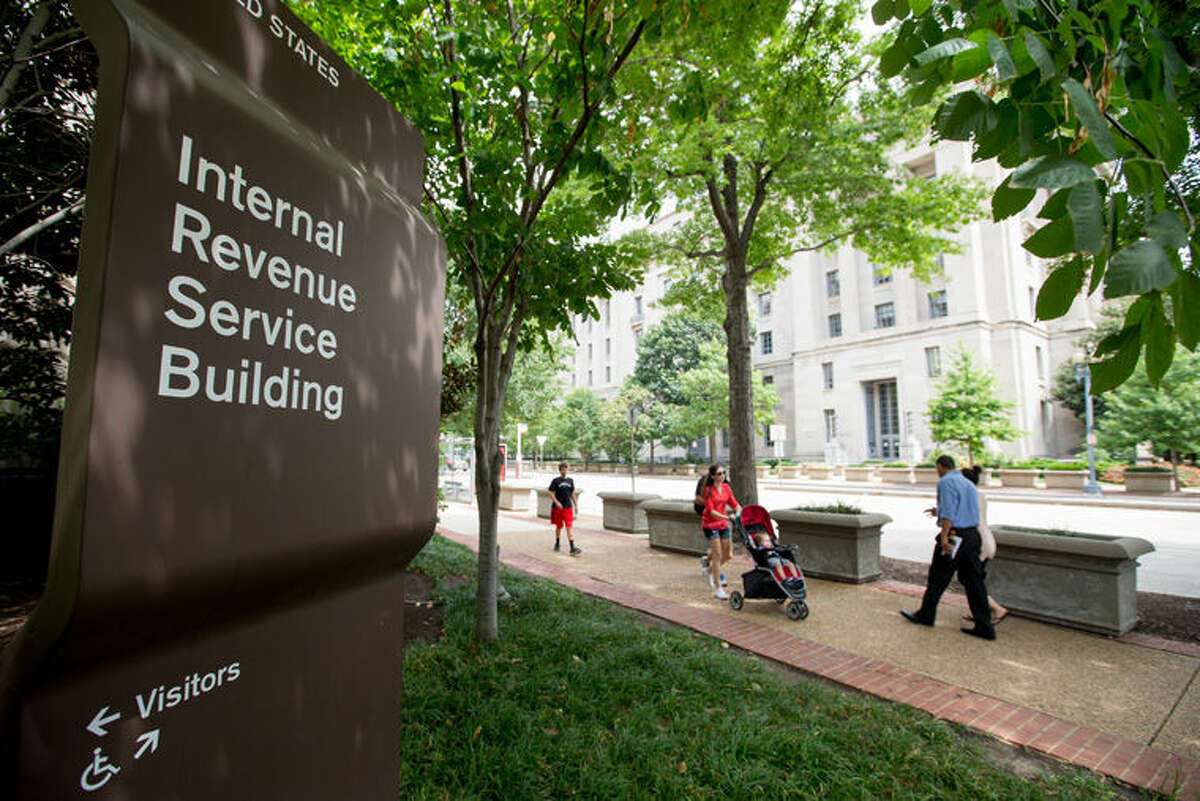 The Internal Revenue Service (IRS) Building in Washington is shown.