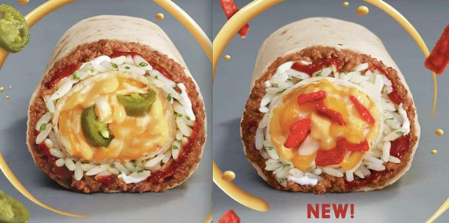 Taco Bell's new Cheesy Core Burritos come in two flavors: Spicy Cheesy Core Burrito and Crunchy Cheesy Core Burrito
