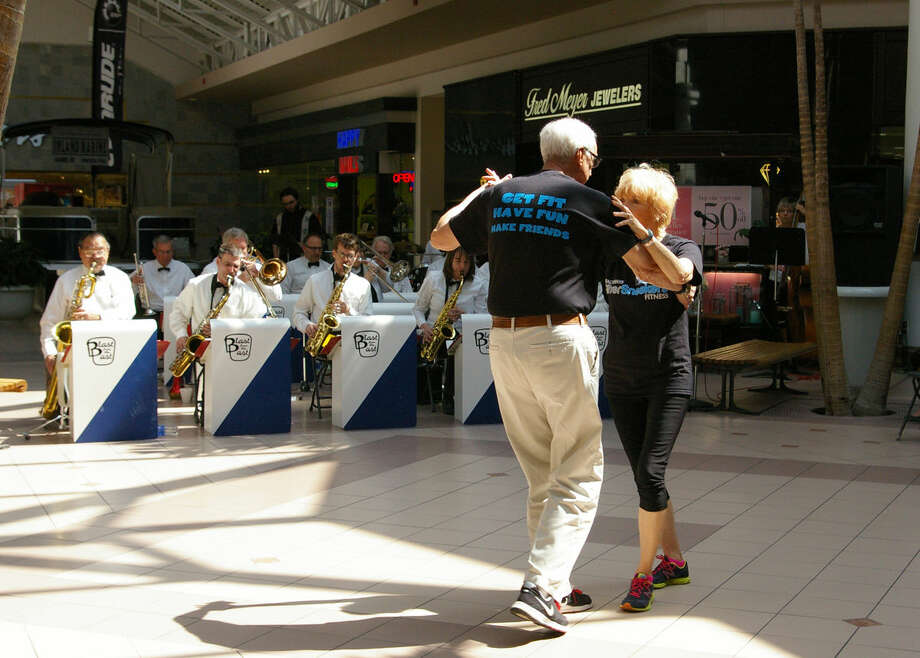 Gary and Rose Brookhouse enjoy a stroll across the dance floor at the Midland Mall, where Blast From the Past okayed during last year's Senior Expo.