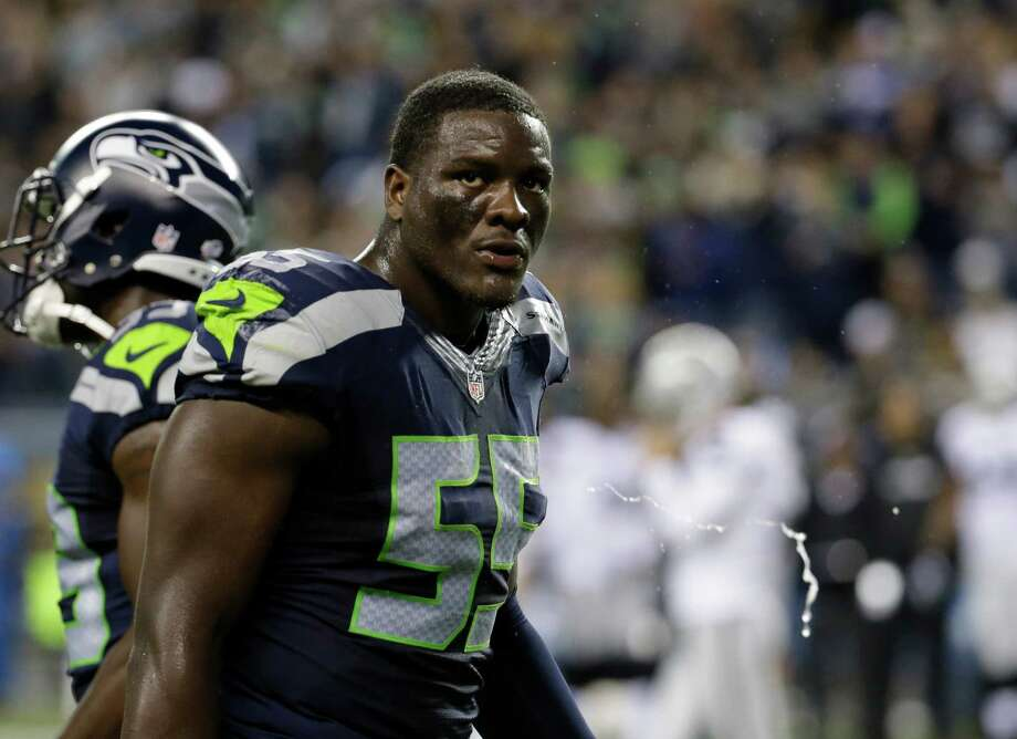 Is Clark the new Irvin?Irvin told Sirius XM NFL radio that Seattle's system limited him as a pass-rusher, and he's not wrong. But the former first-round pick transformed himself into a very solid all-around linebacker over the last three seasons, able to set the edge in the run game, drop into coverage when necessary and get to the quarterback. Seattle doesn't have a readymade replacement on the roster -- or do they? After playing his rookie season at defensive end and his listed weight of 272 pounds, 2015 second-round pick Frank Clark posted a photo to Twitter on March 8 that showed him weighing in at just over 257 pounds. The Seahawks coaching staff had expressed their desire of playing Clark both inside and outside on the defensive line, but the weight loss may signal a move to a hybrid linebacker/defensive end role. The 22-year-old showed enough explosiveness and strength to be a force on the outside. His development will be an item to watch this offseason. Photo: Elaine Thompson, Associated Press / AP