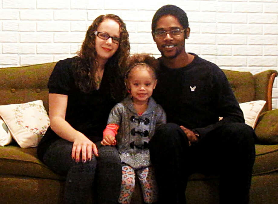 Kyron Tryon, right, with his wife Brittney and their young daughter Addison. Photo: Photo Provided