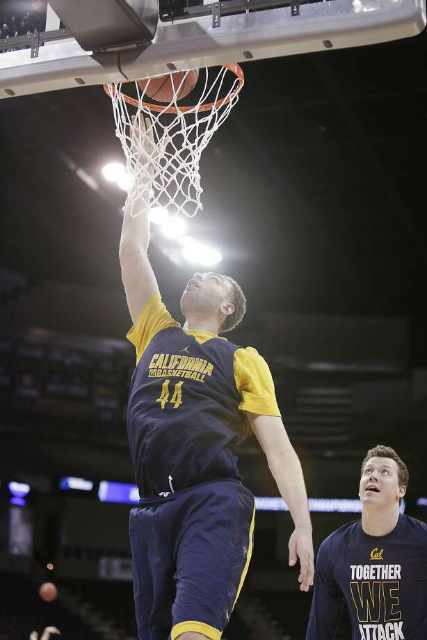 California's Kameron Rooks (44) shoots during practice a day before a first round men's college basketball game against Hawaii in the NCAA Tournament in Spokane, Wash., Thursday, March 17, 2016. (AP Photo/Young Kwak) Photo: Young Kwak, AP