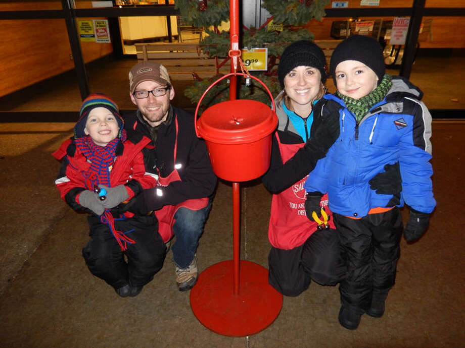 Pictured are Rotarian Jeremy Shafer, his wife, Christina, and their sons. Photo: Photo Provided