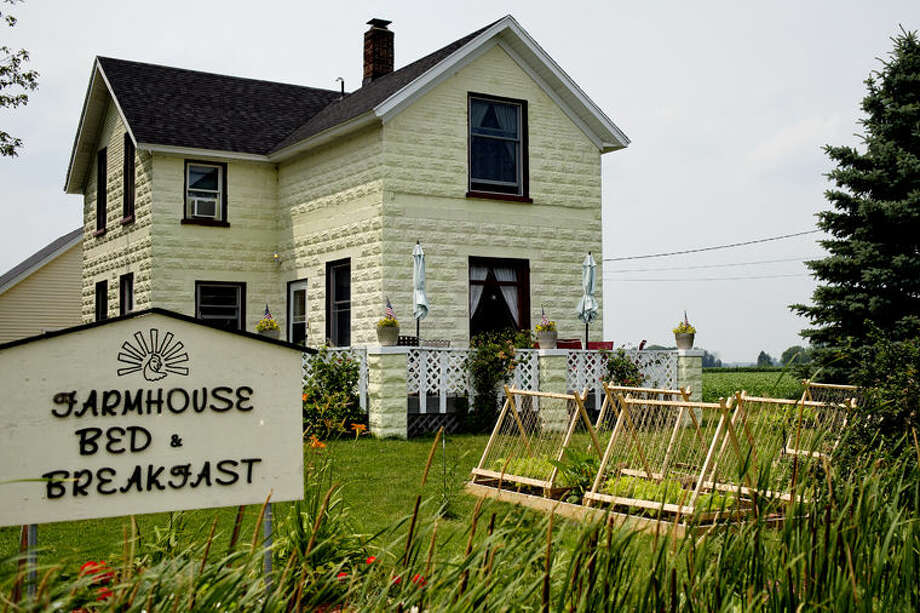 The Farmhouse Bed & Breakfast in Auburn has been completely remodeled to keep the old country feel mixed with fresh colors and designs. Photo: Nick King/Midland Daily News