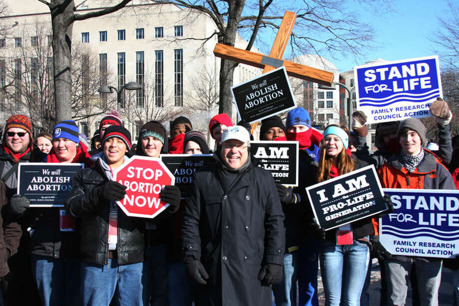 This photo of local Catholics in Washington, D.C., was taken during the March for Life in 2014. Photo: Photo Provided