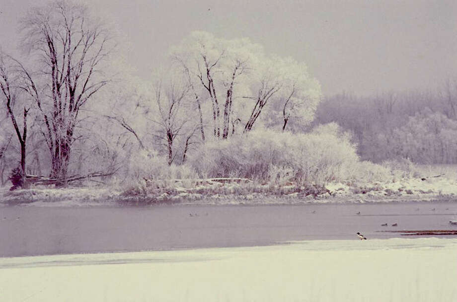 The Shiawassee River is seen in this wintertime scene. Photo: Kim Le Blanc