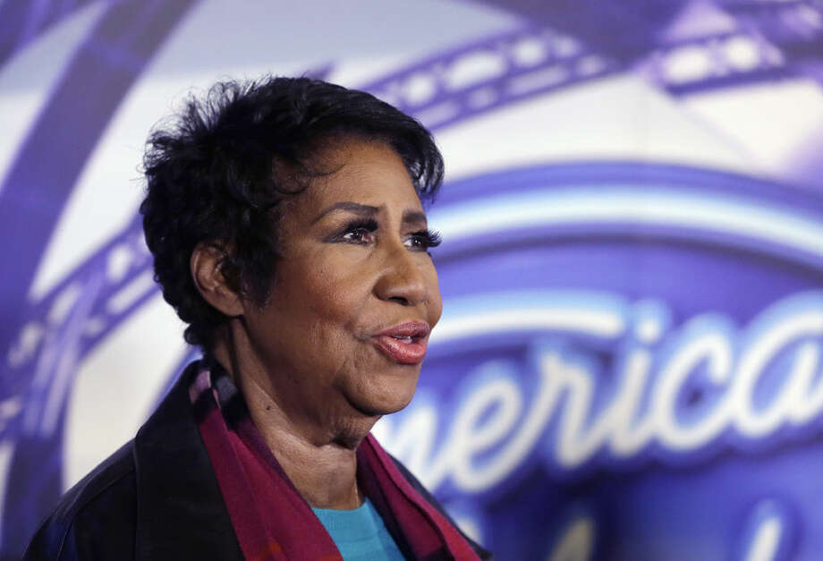 "In a March 4, 2015, file photo, singer Aretha Franklin is interviewed after a taping for American Idol XIV at The Fillmore Detroit. A federal judge in Denver on Friday, Sept. 4, 2015, blocked the scheduled screening at the Telluride Film Festival of the film ""Amazing Grace,"" which features footage from 1972 of a Franklin concert, after the singer objected to its release. Photo: Carlos Osorio"