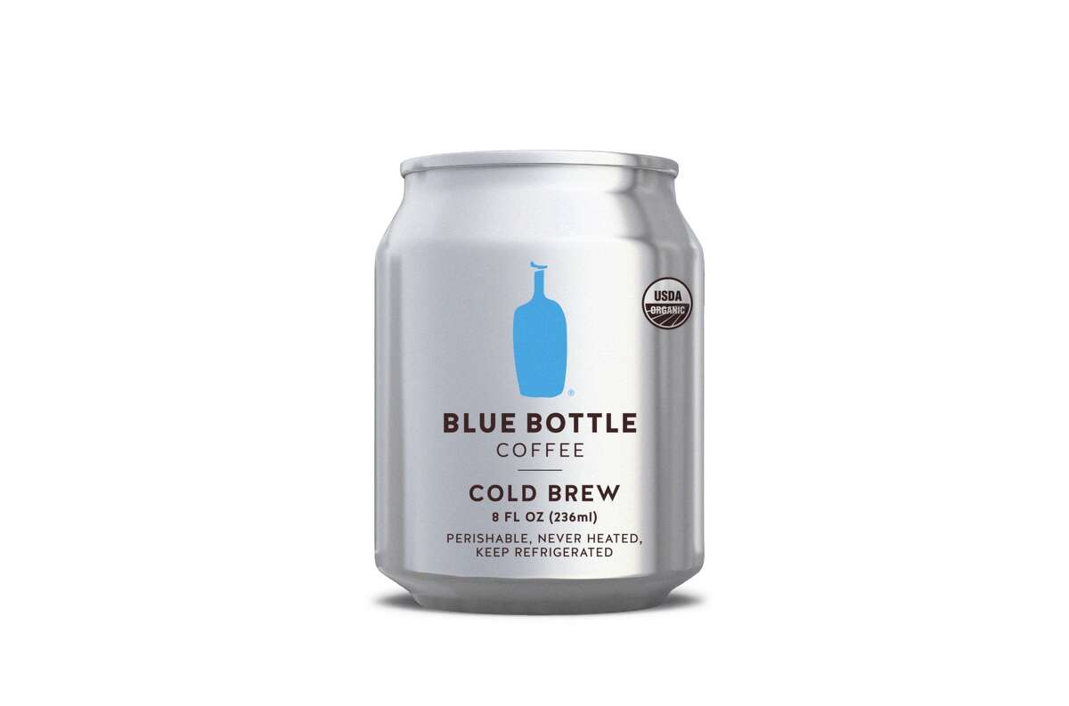 The eight-ounce Cold Brew can from Blue Bottle Coffee, available individually and in packs of four.