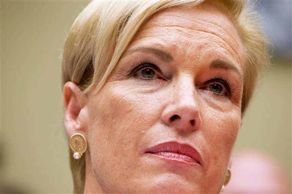 """Planned Parenthood Federation of America President Cecile Richards listens to a question while testifying on Capitol Hill in Washington Tuesday before the House Oversight and Government Reform Committee hearing on """"Planned Parenthood's Taxpayer Funding."""""""