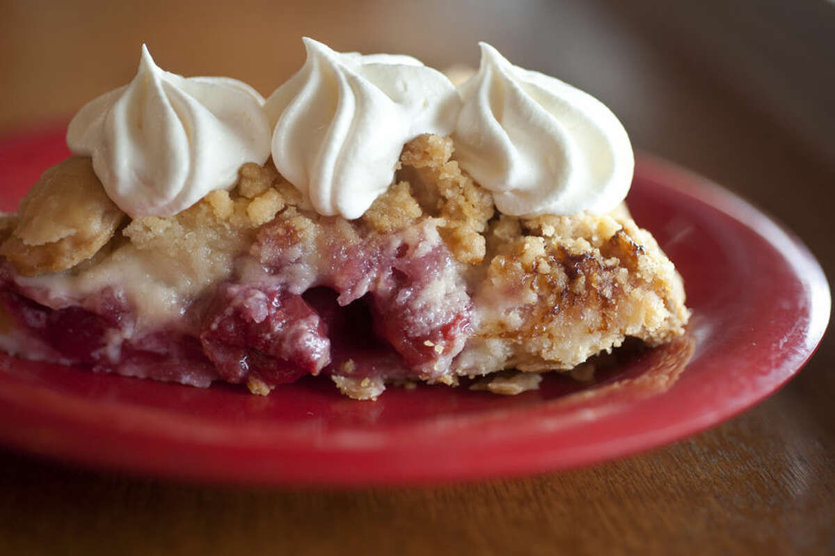 BRITTNEY LOHMILLER   blohmiller@mdn.net The cherry crumb pie is one of the popular pies served at the Grand Traverse Pie Company. The Grand Traverse Pie Company won best dessert and best lunch spot.