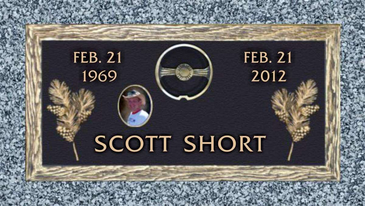This is the headstone Scott Short's mother picked out for her son's grave.