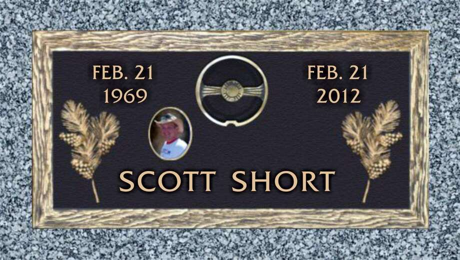 This is the headstone Scott Short's mother picked out for her son's grave. Photo: Photo Provided