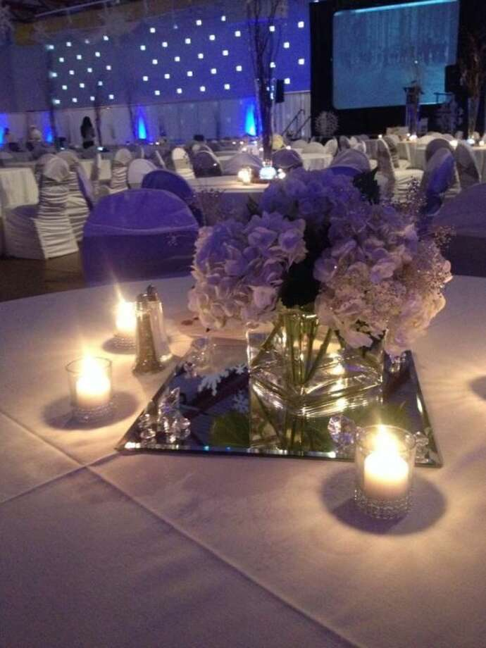 The centerpieces of a previous Stafford Dinner are shown. This year's event will take place Feb. 20 at the Holiday Inn, 810 Cinema Drive, Midland.