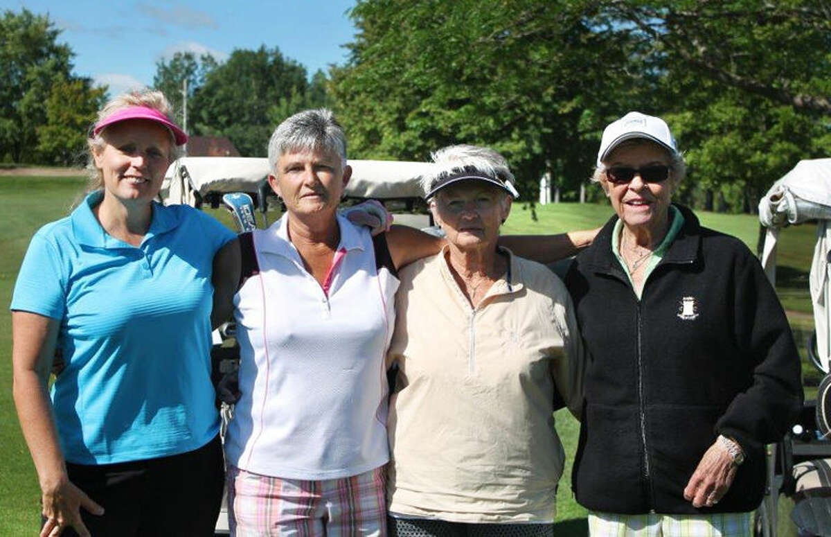 The 48th annual Doe Day Golf Outing raised more than $2,000 for MidMichigan Medical Center-Gladwin. Pictured are the first place team winners, from left, Vicky Johnstone, Carolyn Pellegrin, Karen Klawender and Pat Moon.
