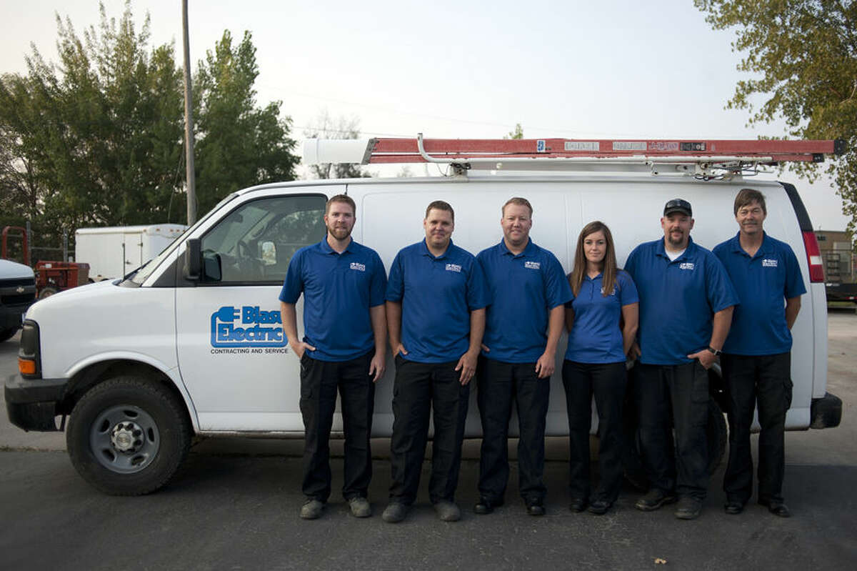 BRITTNEY LOHMILLER   blohmiller@mdn.net The Blasy Electric Inc. won best electrician in the Midland Daily New's Reader's Choice awards.