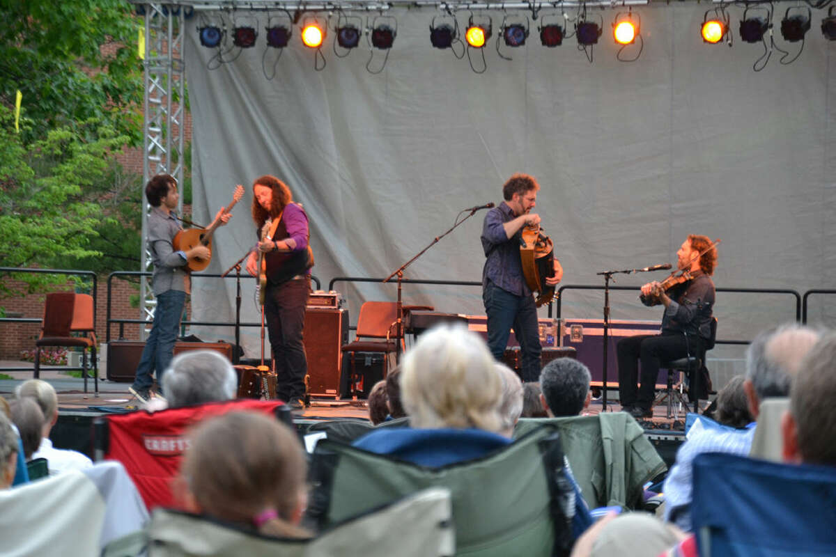 Members of Le Vent du Nord perform Thursday night at Dow Gardens as part of Matrix:Midland.