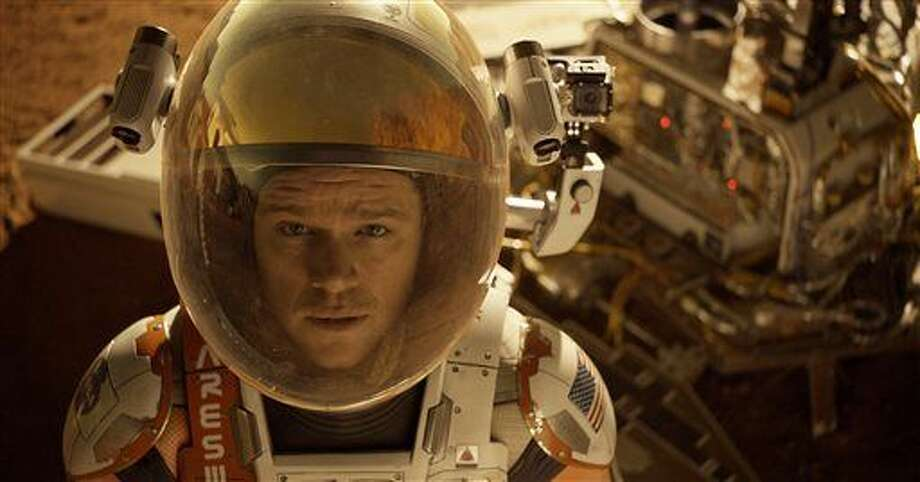 "This photo released by 20th Century Fox shows Matt Damon in a scene from the film, ""The Martian."" Photo: Aidan Monaghan 