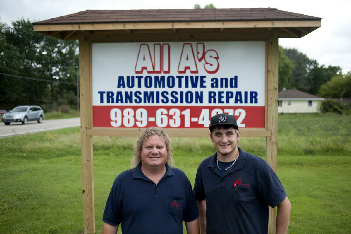 BRITTNEY LOHMILLER | blohmiller@mdn.net Ron Kissane Sr., left, is the owner of All A's Automotive and Transmission Repair and his son Ron Kissane Jr. is the manager. All A's Automotive Transmission Repair won Readers' Choice for best auto repair.