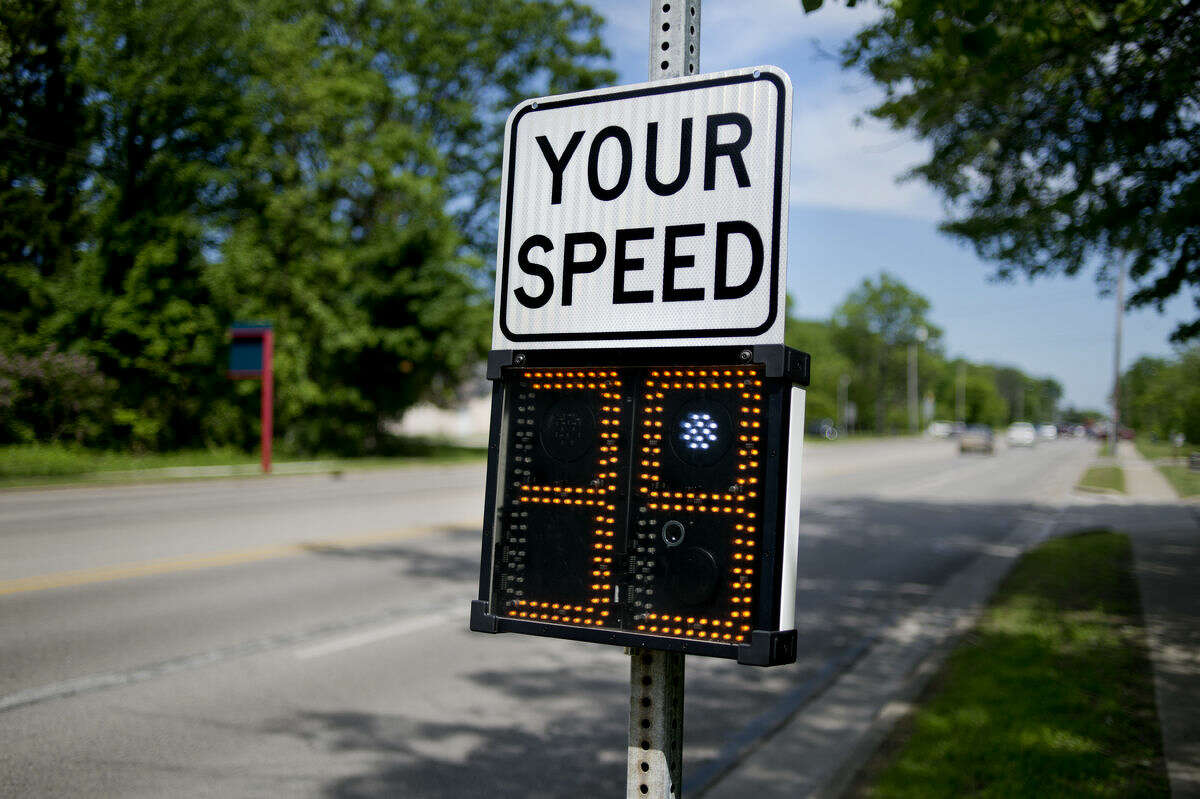 The Midland Police Department Traffic Safety Team is using a new system to collect traffic data. The signs show motorists how fast they are traveling and relay that information to the police. The data from the signs will not be used to issue tickets directly, but it can assist officers patrolling the area.