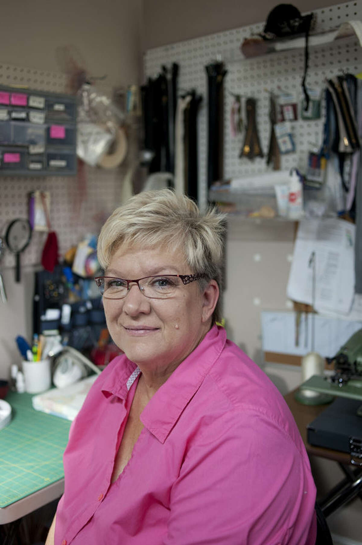 BRITTNEY LOHMILLER   blohmiller@mdn.net Sally Bukoski, owner of Alterations and Custom Sewing, won best alteration shop in the Midland Daily New's Reader's Choice awards.