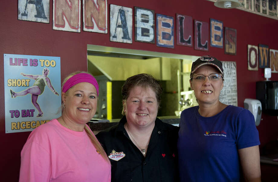 BRITTNEY LOHMILLER | blohmiller@mdn.net Laurie Killinger, from left, Ann McLaughlin and Stephanie Freeman work at Annabelle's Own which won Reader's Choice for best restaurant for home cooking. McLaughlin is the owner. Photo: Brittney Lohmiller/Midland Daily News
