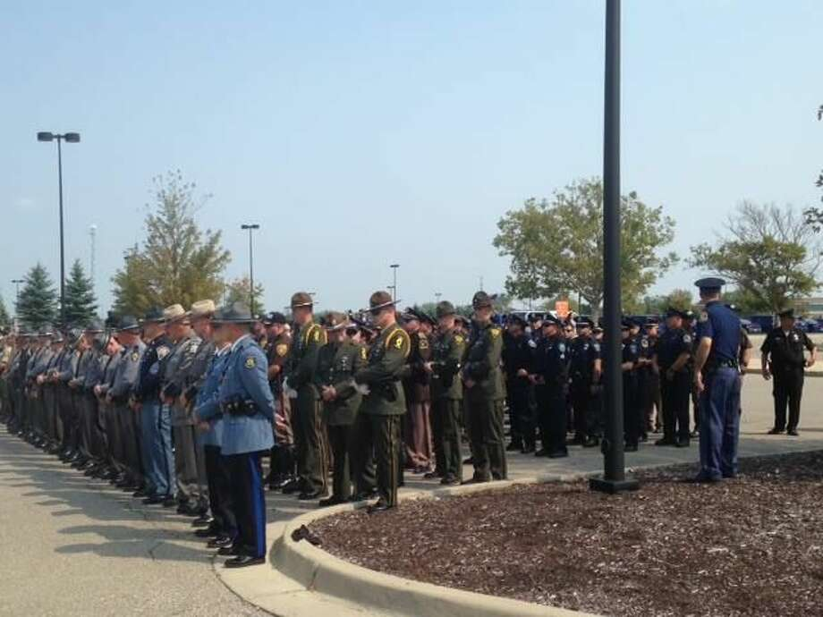 Law enforcement members from across the country came to honor Trooper Wolf. (Photo MSP Facebook)