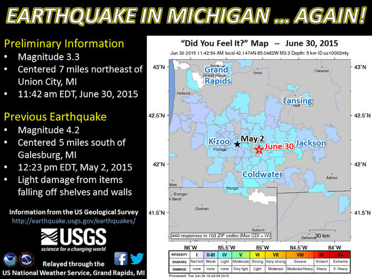 This graphic was released by the U.S. National Weather Service in Grand Rapids.