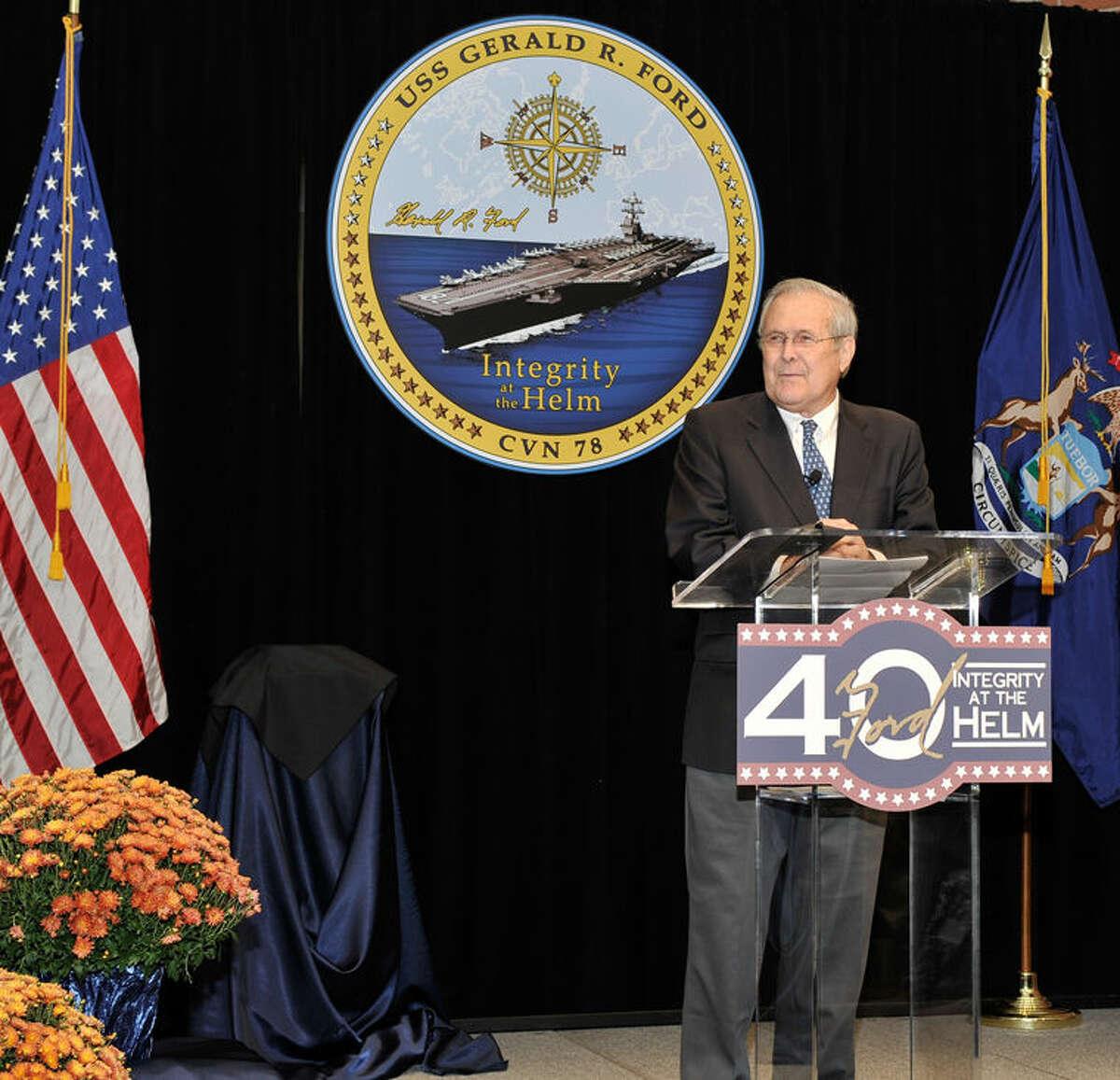 former Secretary of Defense Donald Rumsfeld.