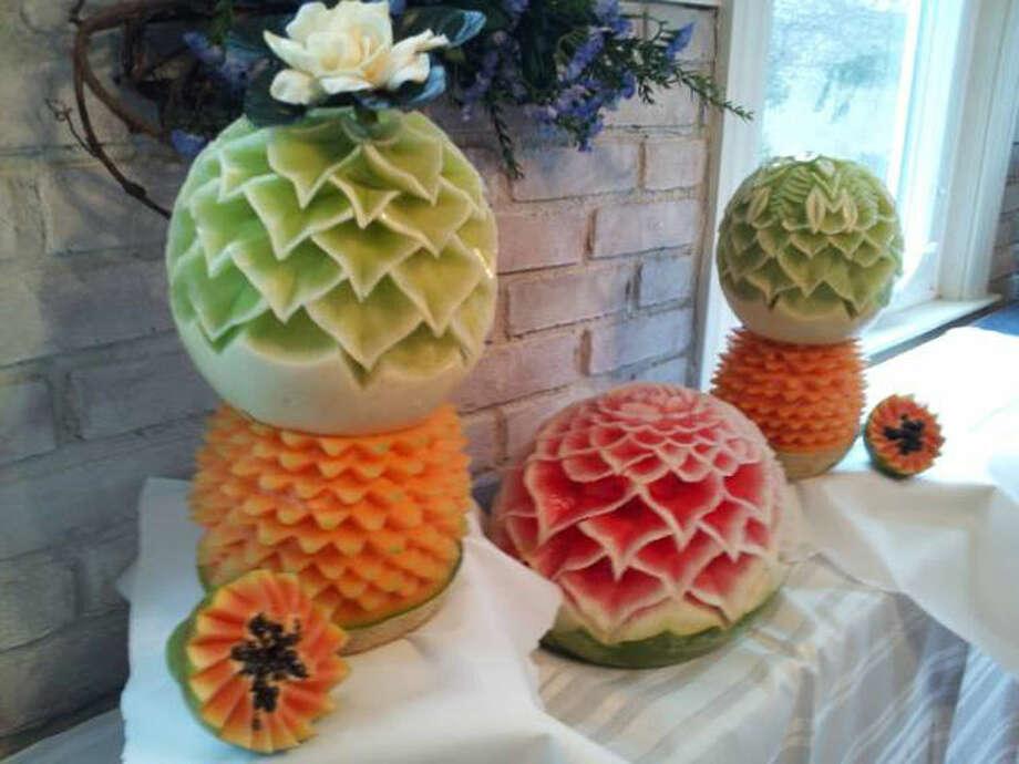 Some of John McGrane's work on honeydew melon, cantaloupe and watermelon. Photo: Photo Courtesy Of John McGrane