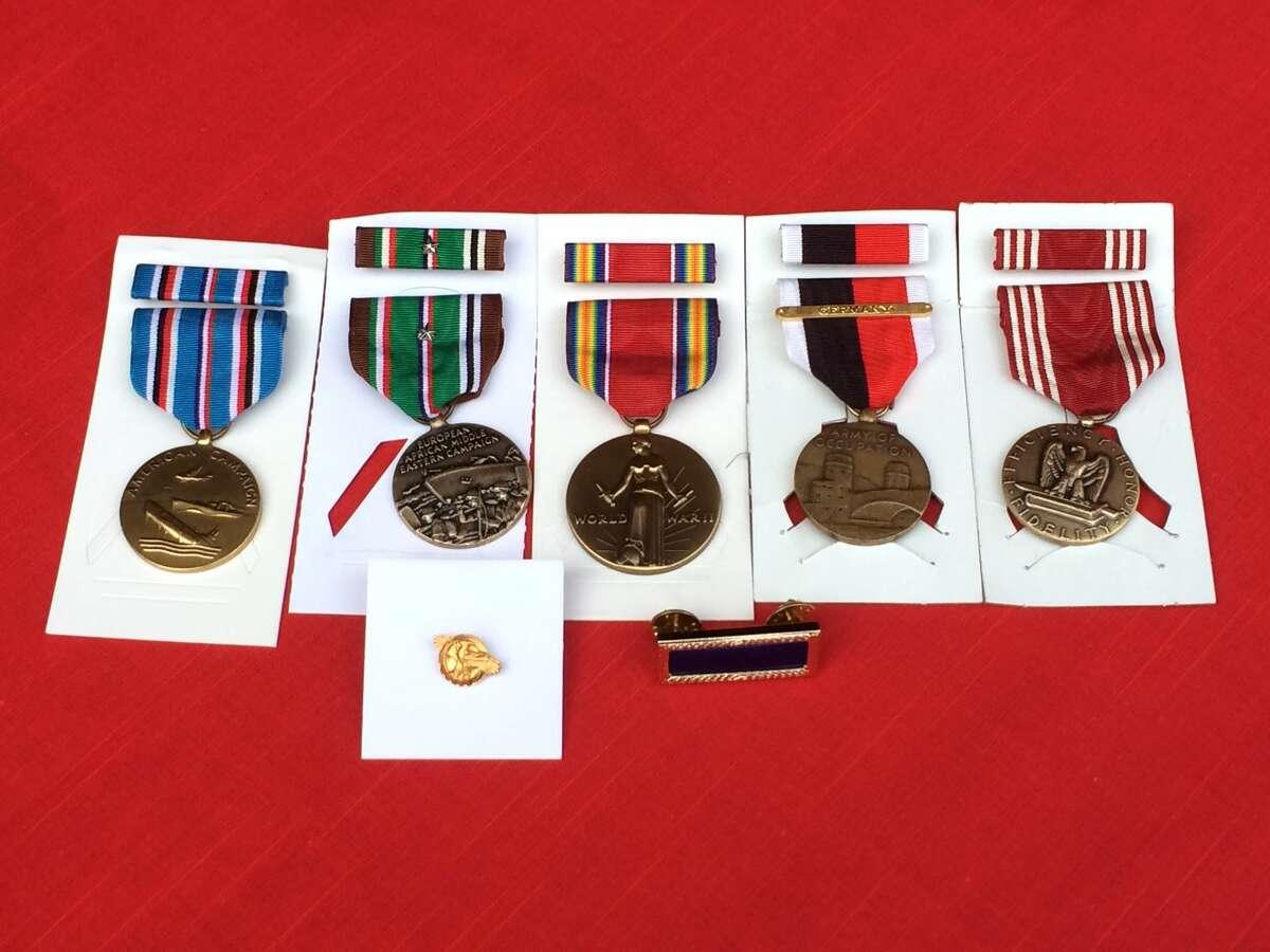 The medals John Richnak received.