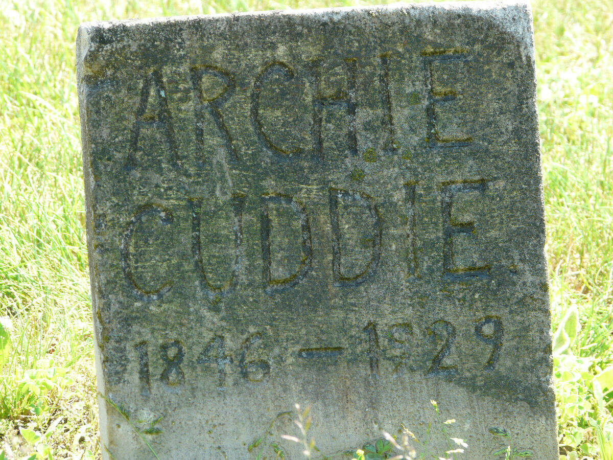 Shown here is one of the older graves at Pine Grove Cemetery in Bay County's Williams Township. This headstone was one of more than 1,600 that were photographed and uploaded to a genealogical website as part of Midland High graduate Jacob Gudmundsen's bid to earn Eagle Scout status.