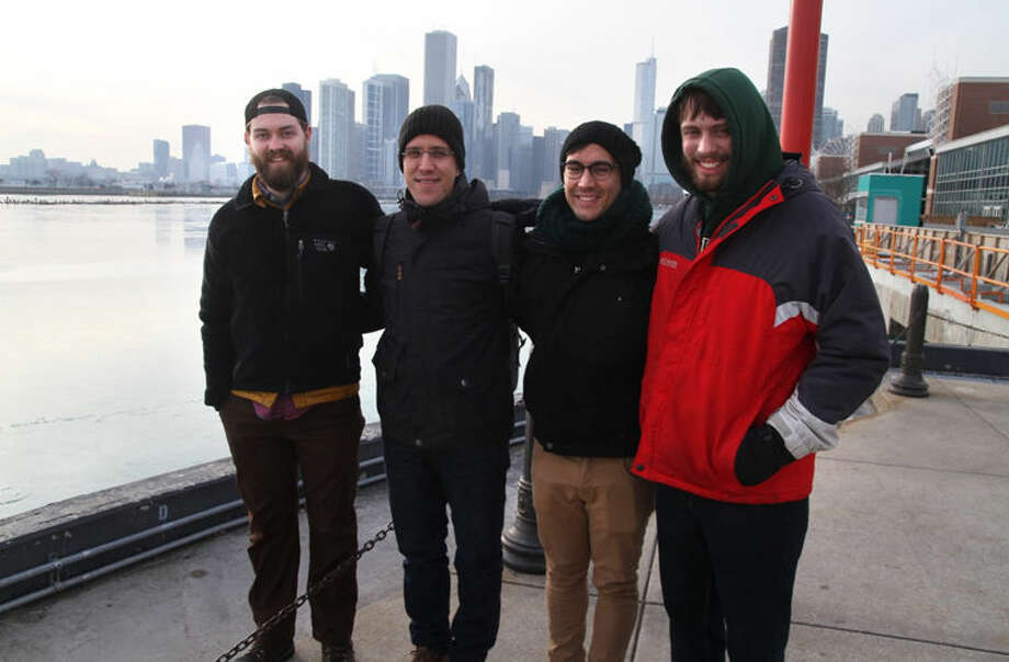 From left, William Beacom, Thilo Bergmann, Alexander Bergmann and Charlie Beacom spend a day together in Chicago earlier this year. The Bergmanns are from Germany, and met the Beacom family as a result of Thilo staying with the Beacoms in Midland as a Rotary Youth Exchange student several years ago. Photo: Photo Provided