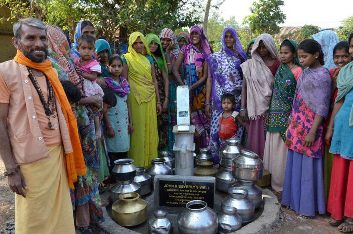 Global Compassion provided six wells, like the John and Beverly well, that serves nine villages, and the group has requests for 11 others that need to be financed.