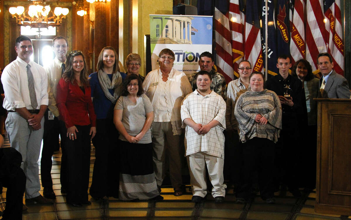 The Michigan Community Action legislative luncheon and awards ceremony April 30, 2015, at the State Capitol in Lansing. [Photo by MATTHEW DAE SMITH   for MCA]
