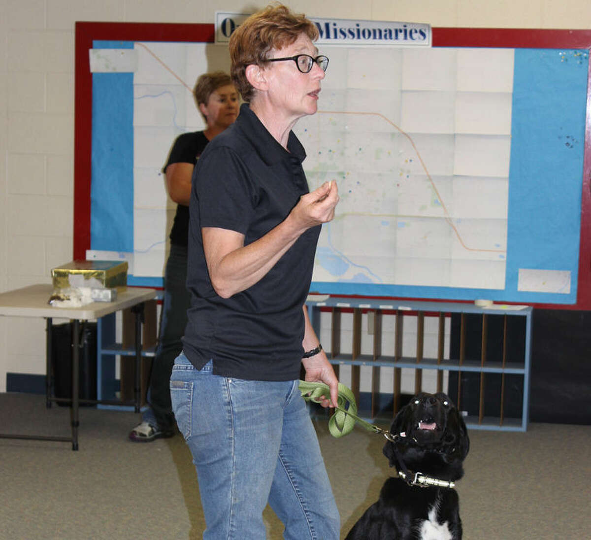 Problem dog specialist Brenda Aloff speaks to Juvenile Care Center youths last year.