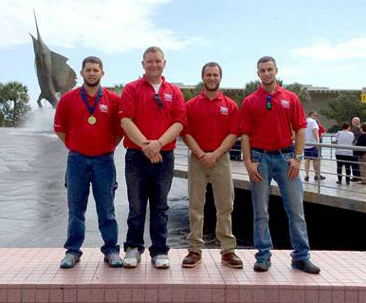 Left to right: Mark Koch, G.E. Insulation Co.; Adam Emery, Three Rivers Corp.; Joe Zazo, Trahan Electric; Justin Behmlander, Three Rivers Corp.