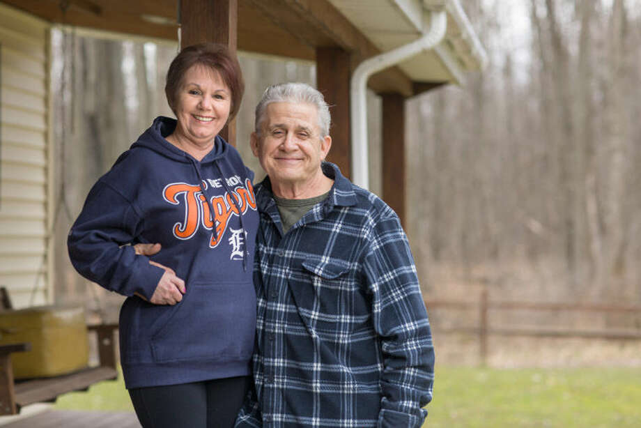 Kevin Campbell, right, suffered with a wound that would not heal until he sought specialized treatment from MidMichigan Health. Photo: Photo Provided