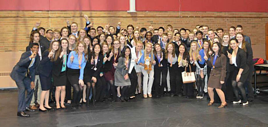 Nearly 60 Dow DECA students are going to the state competition on March 14-16 in Grand Rapids after doing well during the district competition in January. Photo: Photo Provided