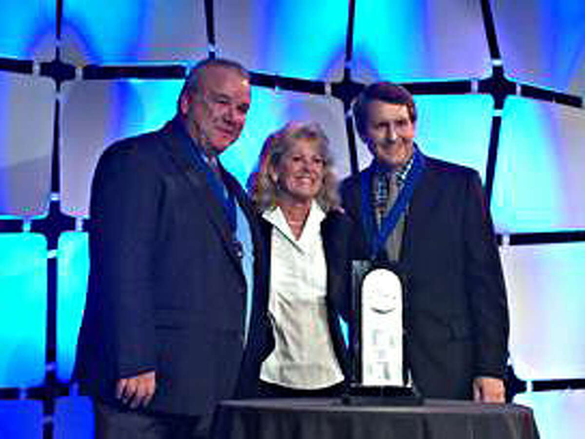 Pictured, from left, are Paul Crivac, Pamela Volm and Randy Sherman.