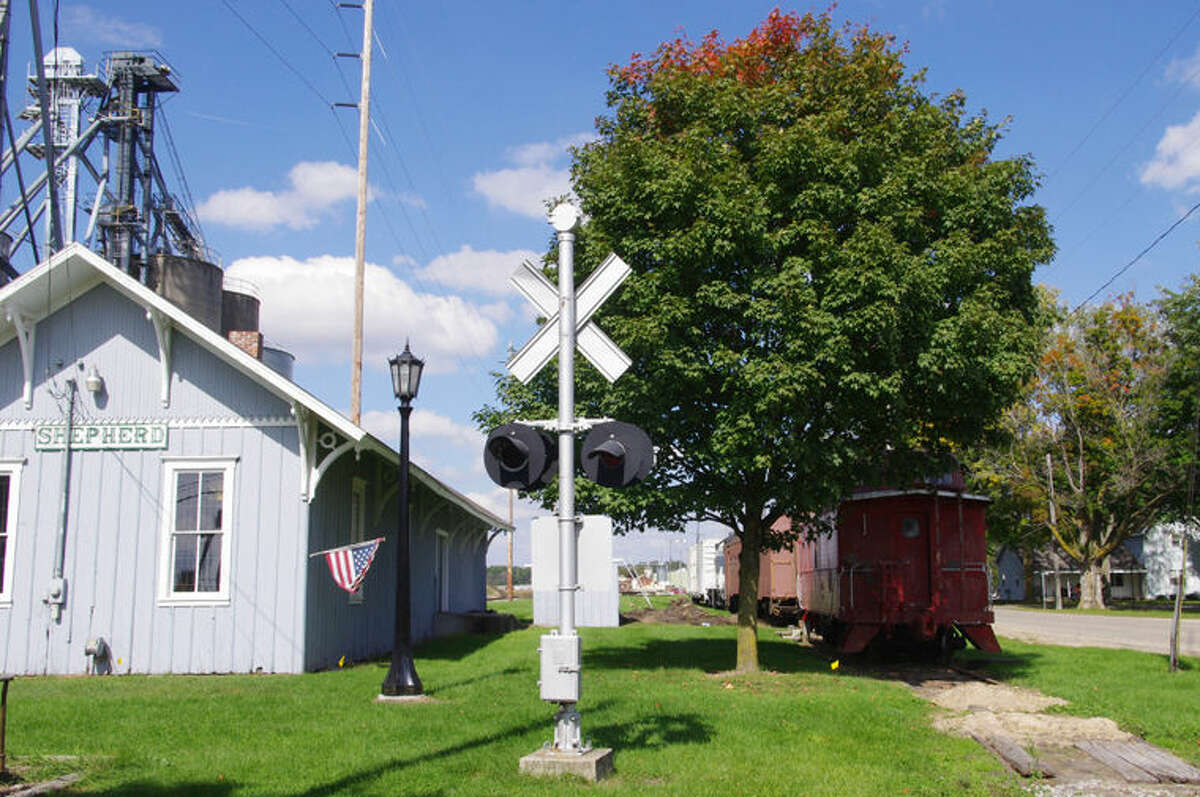 The depot was deeded to the Village of Shepherd in the early 1990s.