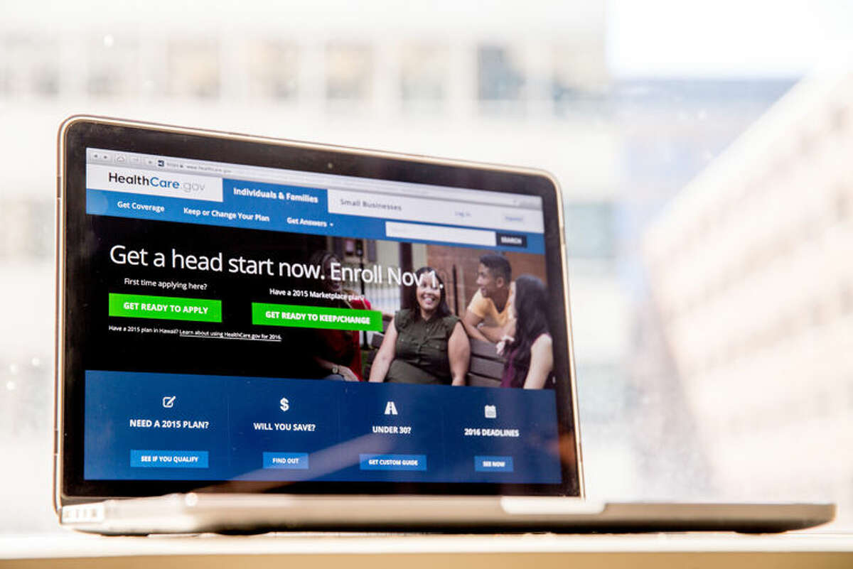 The HealthCare.gov website, where people can buy health insurance, is displayed on a laptop screen in Washington, Tuesday, Oct. 6, 2015. Consumers shopping on the government's health insurance website should find it easier this year to get basic questions answered about their doctors, medications and costs, according to an internal government document. (AP Photo/Andrew Harnik)