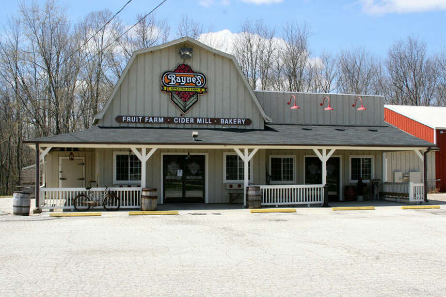 The sale includes the Bayne's Apple Valley Farm business, retail store, café and cider mill, outbuildings and the 19 acres of land on the west side of Midland Road. Photo: Photo Courtesy Of Trademark Commercial Group