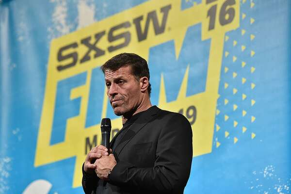 """AUSTIN, TX - MARCH 14:  Motivational speaker Tony Robbins attends the screening of """"Tony Robbins: I Am Not Your Guru"""" during the 2016 SXSW Music, Film + Interactive Festival at Paramount Theatre on March 14, 2016 in Austin, Texas.  (Photo by Mike Windle/Getty Images for SXSW)"""