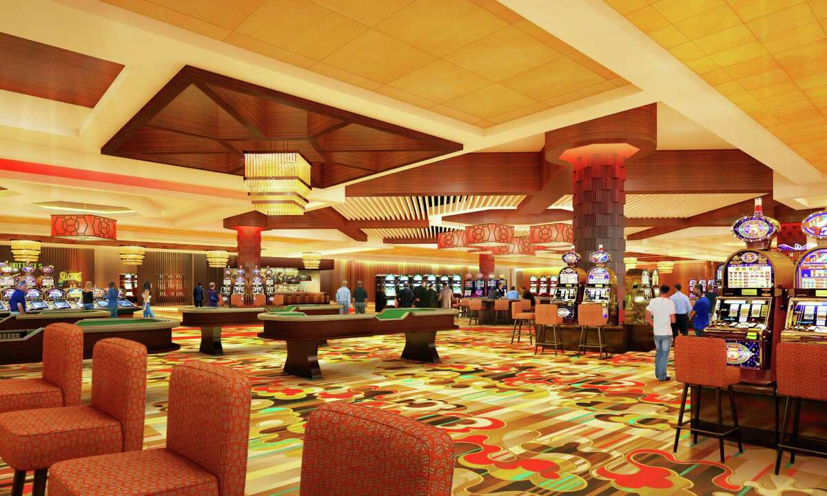 Rendering showing the casino floor inside Rivers Casino & Resort Schenectady, submitted on March 16, 2015. (Provided)