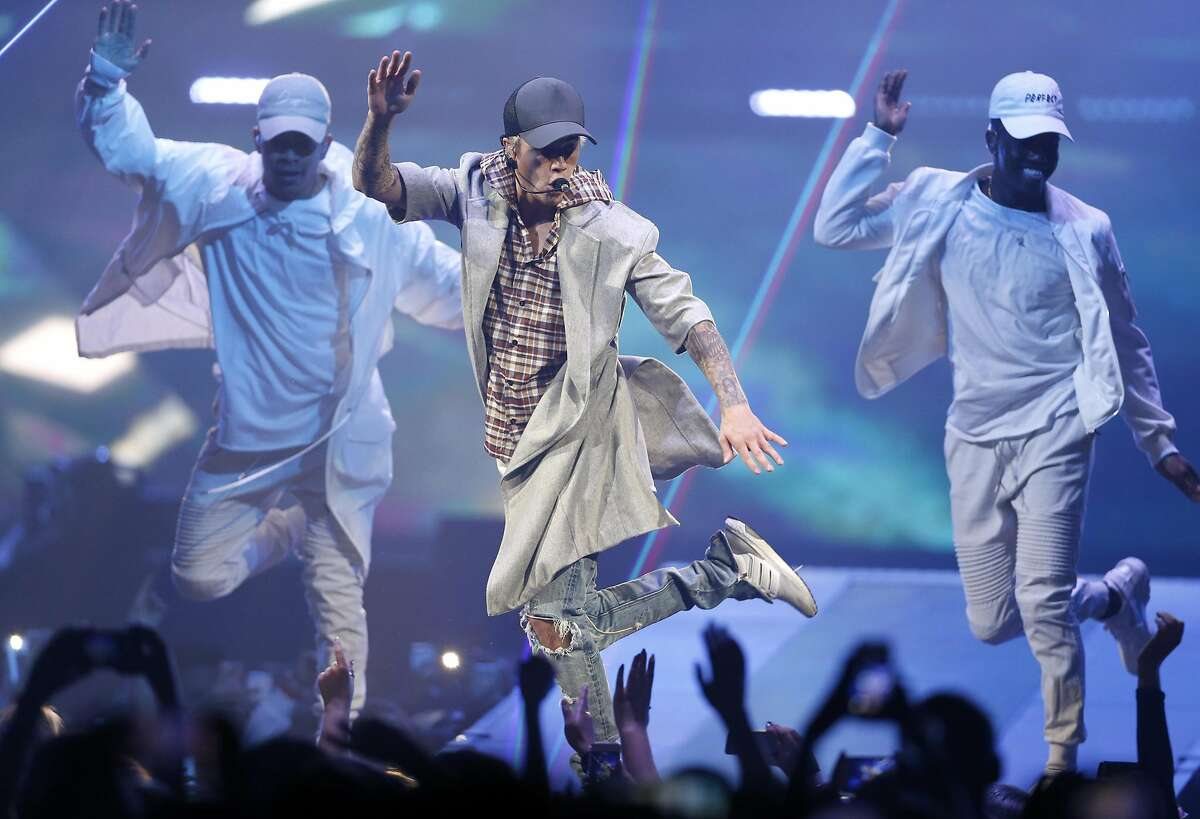 Justin Bieber performs at the SAP Center in San Jose, Calif., on Thursday, March 17, 2016.