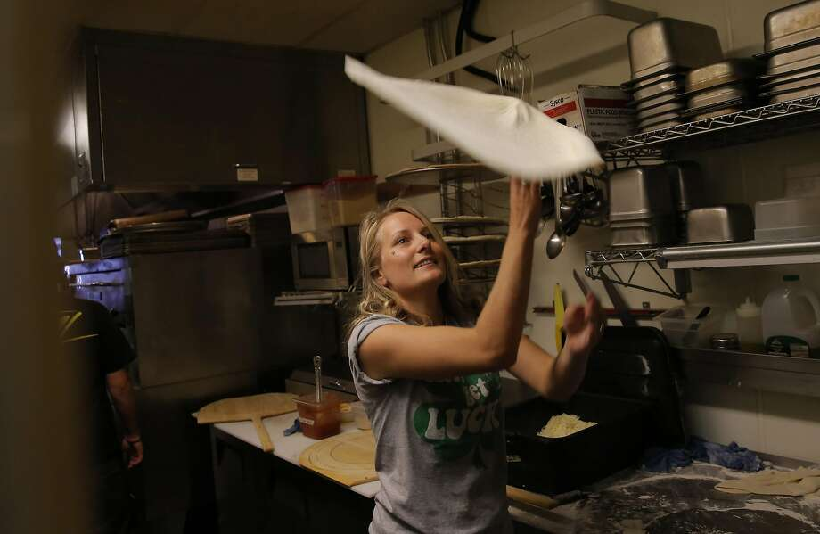 Elise Best, who owns Best Pies Pizzeria with her husband, Chris, in Truckee, says business is up this season. Photo: Michael Macor, The Chronicle