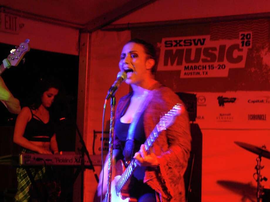 Nina Diaz showcases her solo material at Half Step. Photo: Jim Kiest