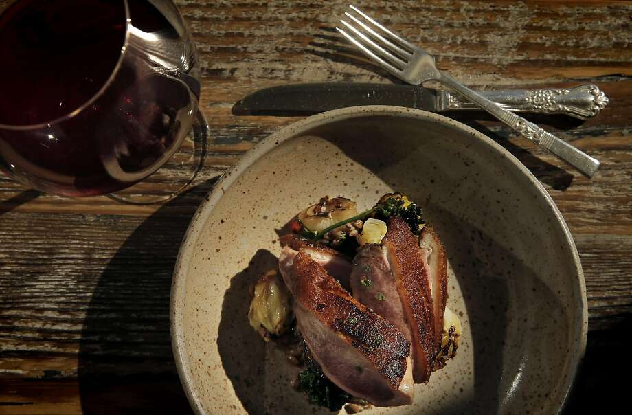 Sonoma duck breast at Octavia, one of the new generation of great San Francisco restaurants offering very short menus. Photo: Carlos Avila Gonzalez, The Chronicle